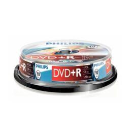 Philips DVD+R 4,7GB Cake Box 10db/csomag lemez