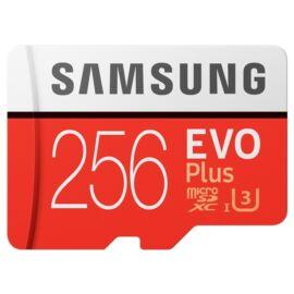 Samsung 256GB SD micro EVO Plus (SDXC Class10) (MB-MC256HA/EU) memória kártya adapterrel