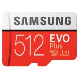 Samsung 512GB SD micro EVO Plus (SDXC Class10) (MB-MC512HA/EU) memória kártya adapterrel