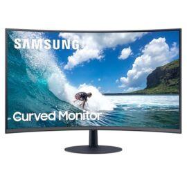 """Samsung 27"""" C27T550FDR LED HDMI Display port ívelt kijelzős kékes sötétszürke monitor"""