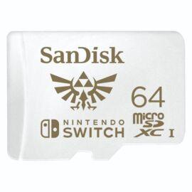 Sandisk 64GB SD micro (SDXC Class 10 UHS-I U3) Nintendo Switch memória kártya
