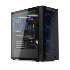 SilentiumPC Armis AR6X TG RGB Fekete (Táp nélküli) ablakos E-ATX ház