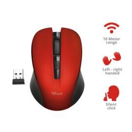 Trust Mydo Silent Click vezeték nélküli piros egér
