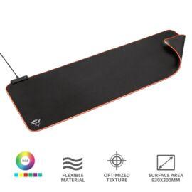 Trust GXT 764 Glide-Flex RGB  XXL világító fekete gamer egérpad