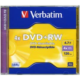 VERBATIM DVDVU+4 DVD+RW normál tokos DVD lemez