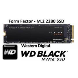 Western Digital 500GB M.2 2280 SN750 NVMe Black (WDS500G3X0C) SSD