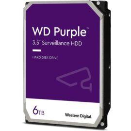 """Western Digital 3,5"""" 6000GB belső SATAIII 5400RPM 128MB PURPLE WD62PURZ winchester 3 év"""