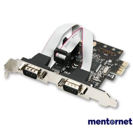 Axagon PCEA-S2 2 db soros portos 1 sávos PCI-Express kártya