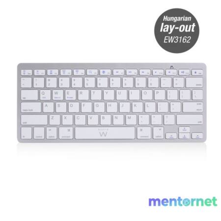 EWENT by Eminent EW3162 ultra vékony Bluetooth fehér billentyűzet