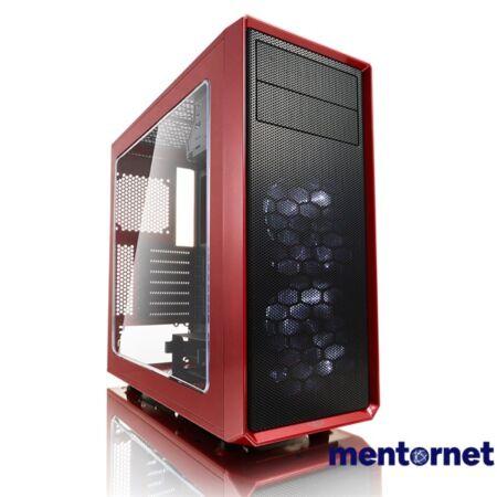 Fractal Design Focus G Piros ablakos (Táp nélküli) ATX ház