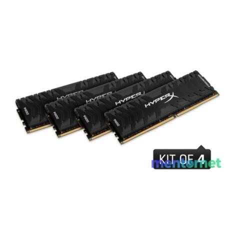 Kingston 64GB/3333MHz DDR-4 HyperX Predator XMP (Kit! 4db 16GB) (HX433C16PB3K4/64) memória