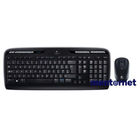 Logitech MK330 HUN fekete vezeték nélküli billentyűzet + egér