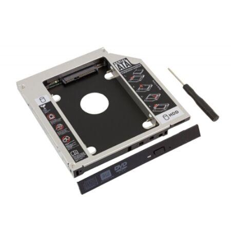 """HDD/SSD 2,5"""" beépítő keret laptop CD/DVD meghajtó helyére"""