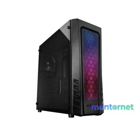RAIDMAX Zeta RGB Fekete (Táp nélküli) ablakos ATX ház