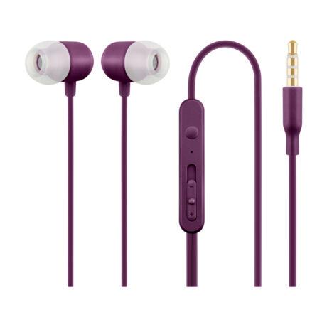 Acme HE21P lila mikrofonos fülhallgató headset