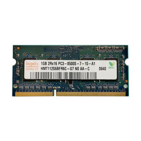 1GB, DDR3, 1066MHz notebook memória (PC3-8500)