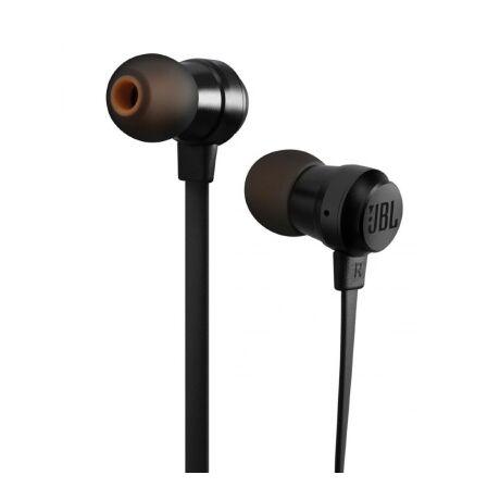 T110BLK fekete mikrofonos vezetékes headset - fülhallgató
