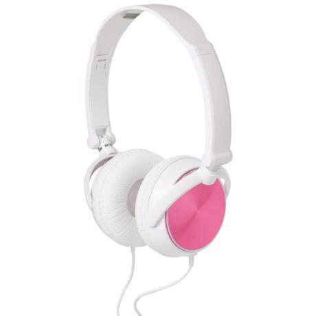 HPH 5/P rózsaszín-fehér vezetékes fejhallgató