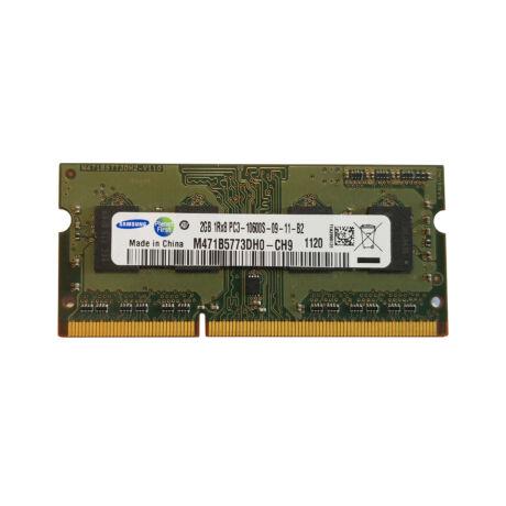 2GB, DDR3, 1333MHz  notebook memória (PC3-10600S, M471B5773DH0-CH9)