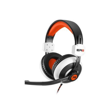 Rush ER2 fekete-fehér gamer mikrofonos vezetékes headset - fejhallgató