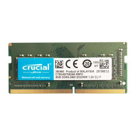 8GB, DDR4, 2400MHz, CL17, 1.2V notebook RAM (CT8G4SFD824A)
