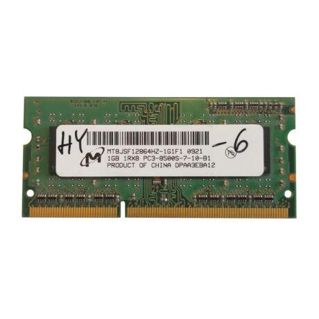 1GB, DDR3, 1066MHz notebook memória (PC3-8500, MT8JSF12864HZ-1G1F1)