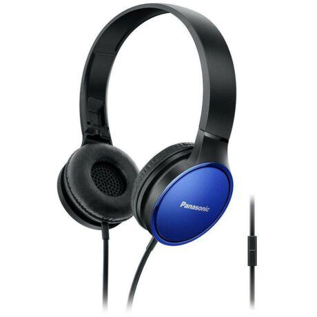 RP-HF300ME-A fekete-kék mikrofonos vezetékes headset - fejhallgató