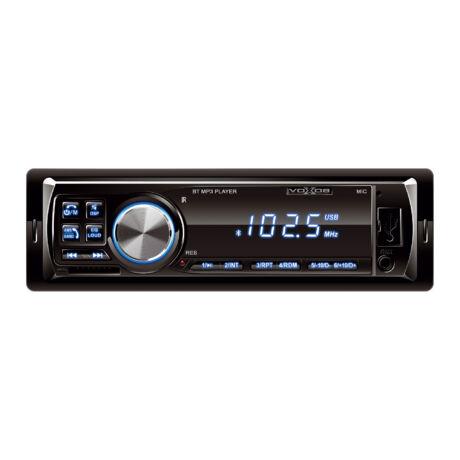 VBT 1000/BL autós fejegység bluetooth/FM rádió/AUX/ SD kártya - kék megvilágítással
