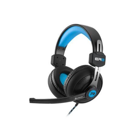 Rush ER2 - vezetékes mikrofonos fejhallgató fekete-kék színben