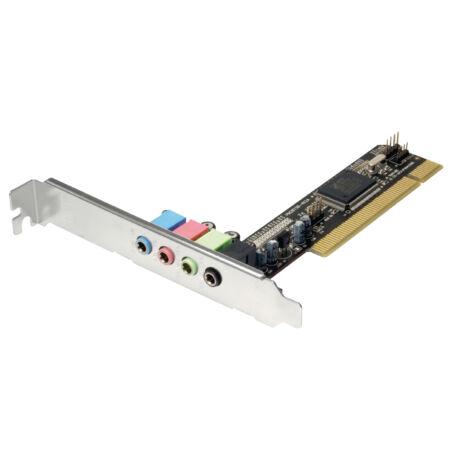 PC hangkártya, PCI csatlakozóval, 5.1-es kimenettel, SC012