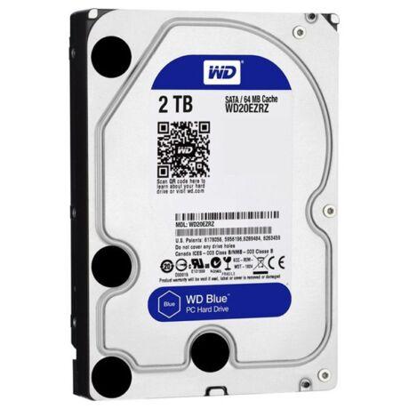 "3,5"" 2000GB belső SATAIII 5400RPM 64MB Blue advanced format WD20EZRZ winchester"