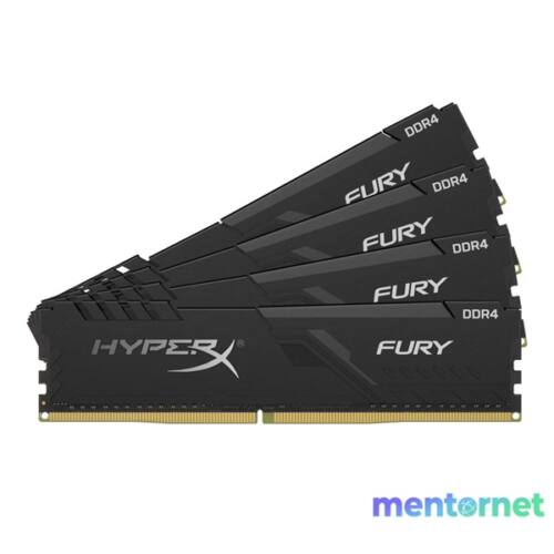 Kingston 16GB/3000MHz DDR-4 HyperX FURY fekete (Kit 4db 4GB) (HX430C15FB3K4/16) memória
