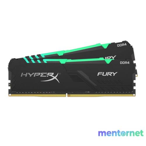 Kingston 64GB/3000MHz DDR-4 HyperX FURY RGB (Kit! 2db 32GB) (HX430C16FB3AK2/64) memória