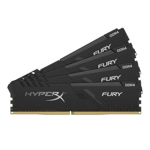 Kingston 64GB/2400MHz DDR-4 HyperX FURY fekete (Kit 4db 16GB) (HX424C15FB3K4/64) memória