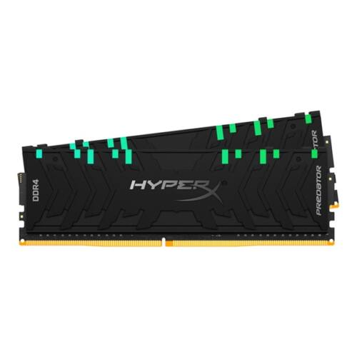 Kingston 64GB/3200MHz DDR-4 HyperX Predator RGB XMP (Kit! 2db 32GB) (HX432C16PB3AK2/64) memória