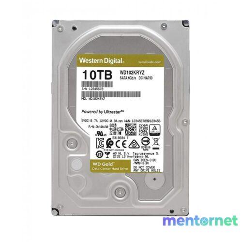 "Western Digital 3,5"" 10000GB belső SATAIII 7200RPM 256MB Gold WD102KRYZ winchester"