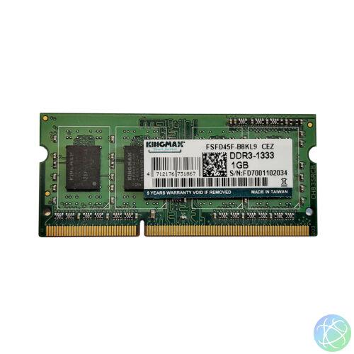 1GB, DDR3, 1333MHz notebook memória (PC3-10600, FSFD45F-B8KL9)