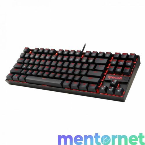 Kumara 2 RED LED háttérvil. mechanikus gamer billentyűzet, brown switch, fekete, HU bemutató darab