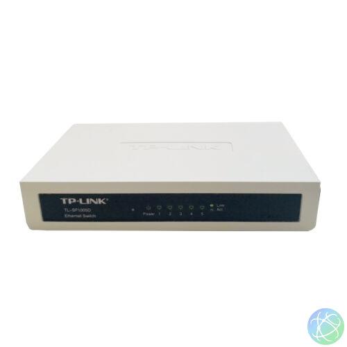 TL-SF1005D 5 portos, 10/100Mbps használt asztali switch