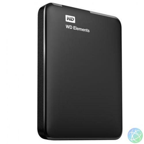 """1000GB WD Elements USB 3.0 black 2,5""""-os külso winchester WDBUZG0010ABK"""
