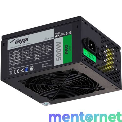 Akyga Ak-P4-500 semi-modular 500W ATX tápegység