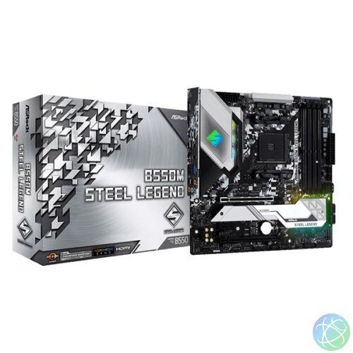 ASRock B550M STEEL LEGEND AMD B550 SocketAM4 mATX alaplap