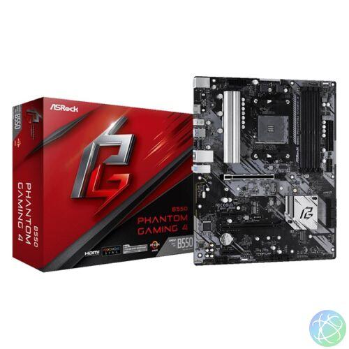 ASRock B550 PHANTOM GAMING 4 AMD B550 SocketAM4 ATX alaplap