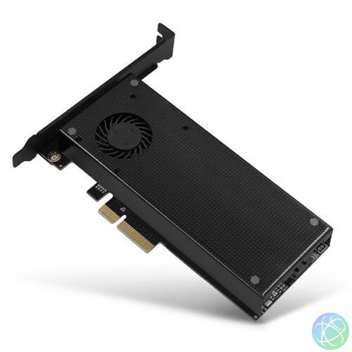 Axagon PCEM2-DC PCI-Express - NVME+NGFF M.2 hűtővel ellátott adapter