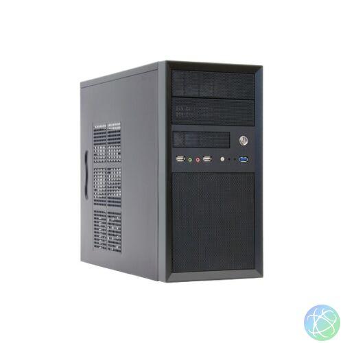 Chieftec CT-01B-OP táp nélküli fekete mATX ház
