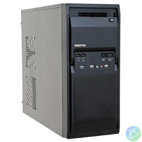 Chieftec LG-01B-OP táp nélküli fekete mATX ház