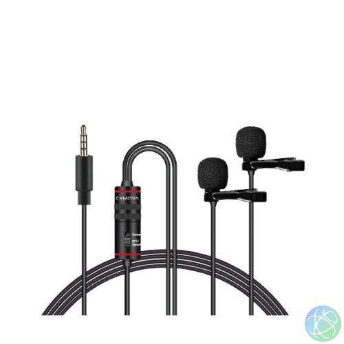 CKMOVA LCM3D mobiltelefonokhoz és DSLR kamerákhoz és PC-hez csíptetős mikrofon pár
