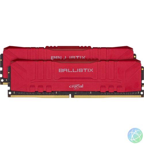 Crucial 16GB/3000MHz DDR-4 Ballistix piros (Kit! 2db 8GB) (BL2K8G30C15U4R) memória