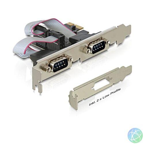 Delock 89220 PCI Express kártya> 2 x soros