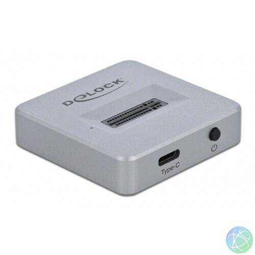 Delock M.2 NVMe PCIe SSD-hez USB Type-C anya dokkoló állomás